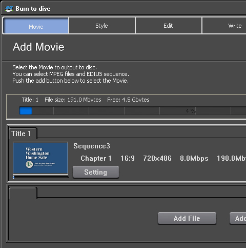 Edius 5 DVD Sequence Export 3b