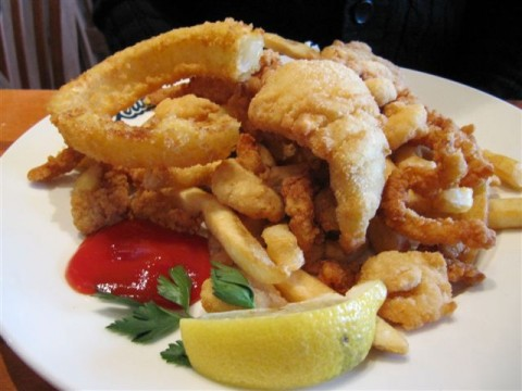 Ivars Fried Seafood Combo