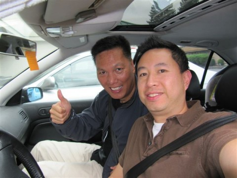 John Chow in car