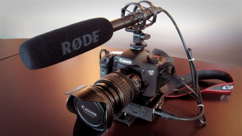 Canon 7D with Zacuto Z-Finder Pro 3x and Rode VideoMic