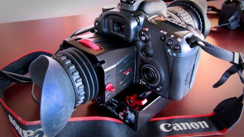 Canon 7D with Zacuto Z-Finder Pro 3x