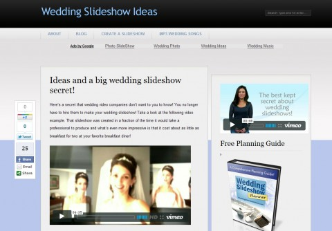 Wedding Slideshow Ideas