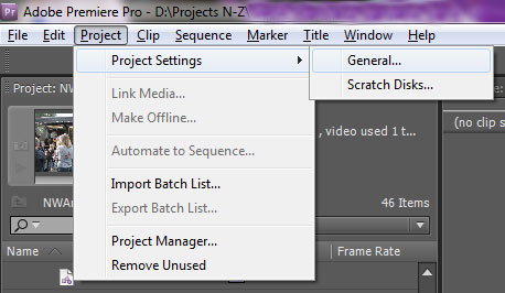 Adobe Premiere Center Cut SD Title Safe