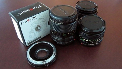 Fotodiox FD to EOS Adapter and Lenses