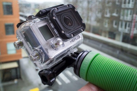 GoPro with Imorden Hand Grip Stabilizer Pistol Grip